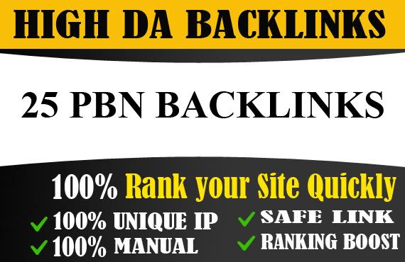 do 25 high da dofollow PBN backlinks for top google ranking