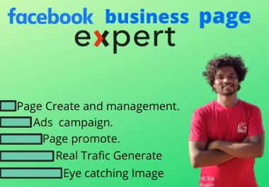 I will create your facebook business page.