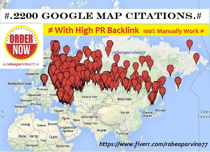 I will create 300 google map citations with high PR backlink