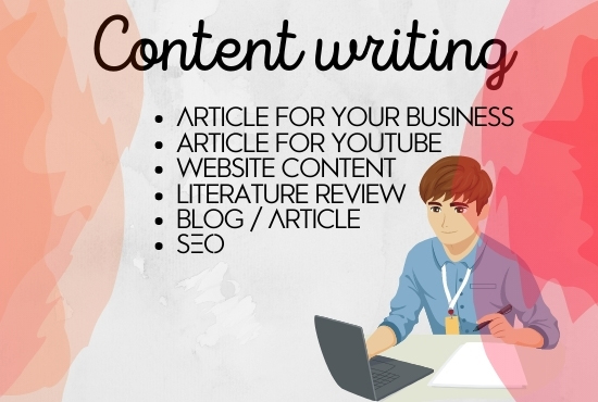 I will do SEO article writing,  website content or blog writing 500 to 1000 words