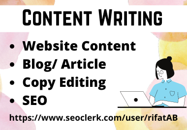 SEO friendly Website Content Writing Service from 500 to 1000 words
