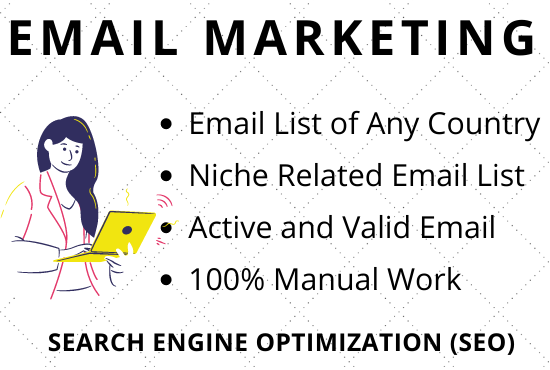 I will create 100 email list for your targeted audience