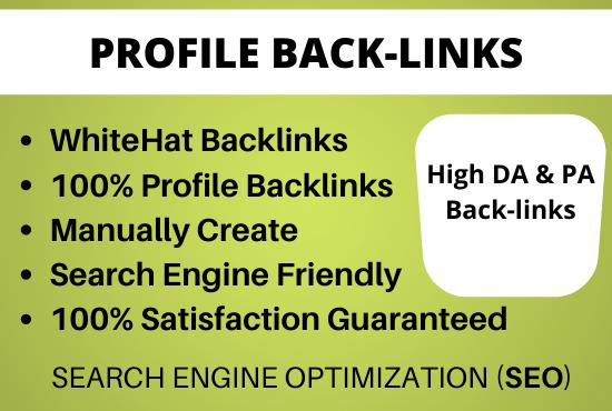 Provide 50 High Authority Profile Backlinks Manually