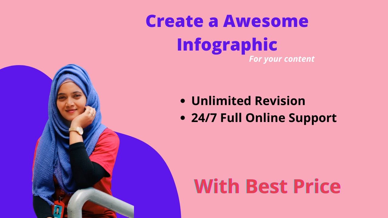 I will design professional creative infographics