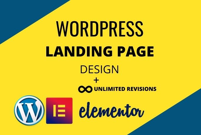 I will create a modern landing page design with responsive