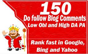 i will a provide 150 blog comment high da pa backlinks