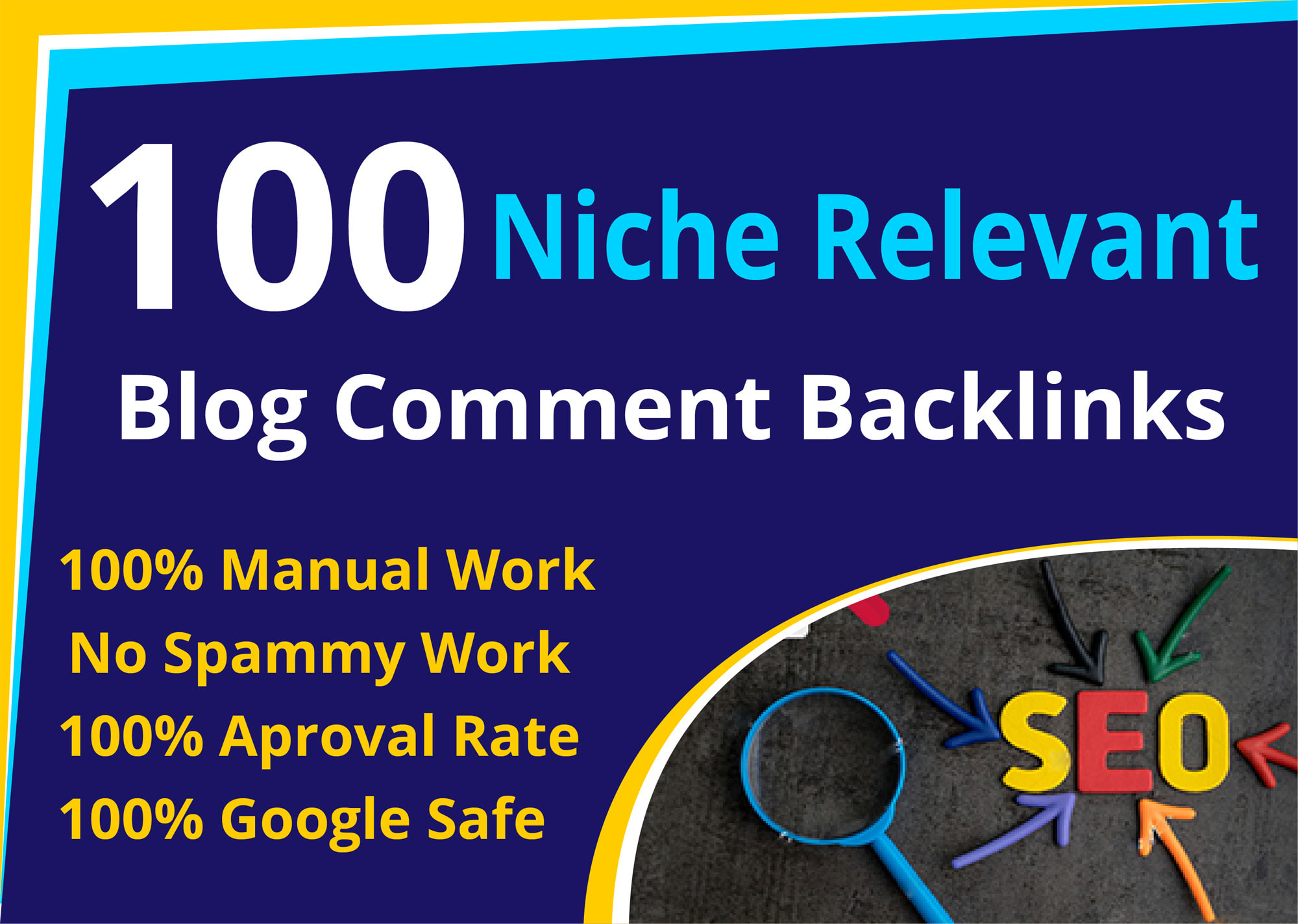 i will a provide 100 niche relevant blog commment backlinks