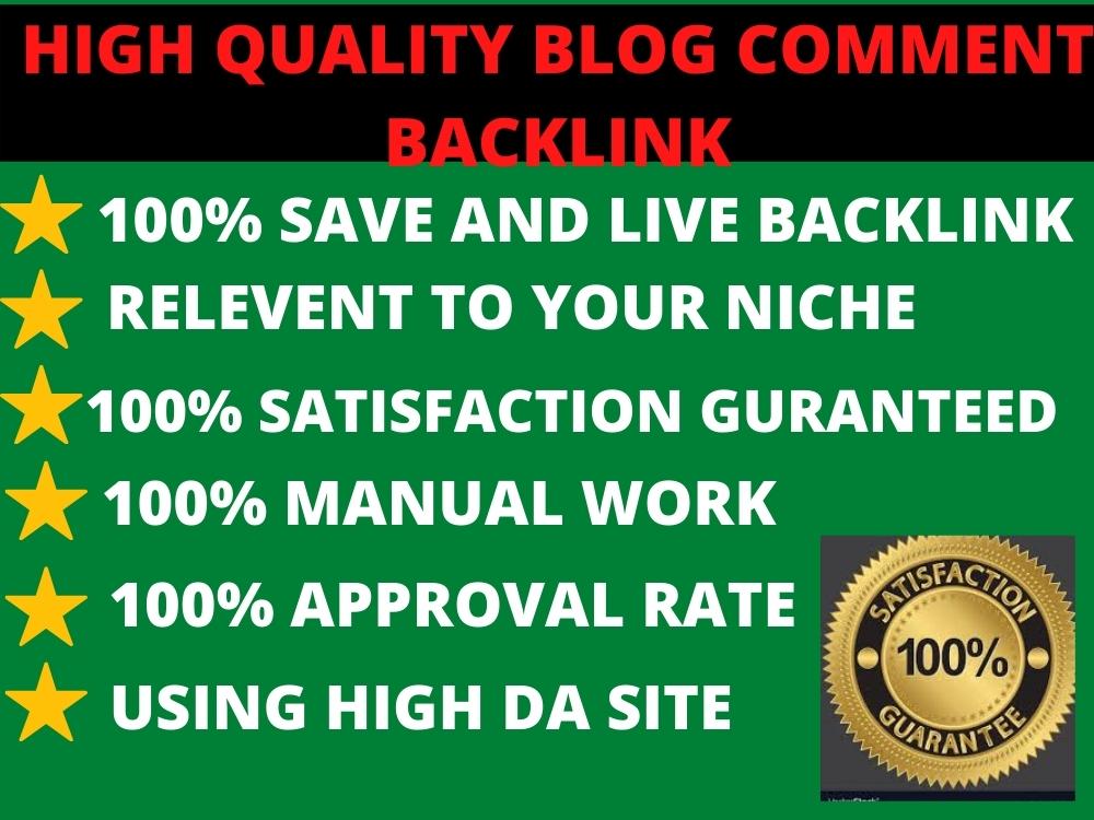 I Will Do Manually 50 Dofollow Blog Comment Backlinks