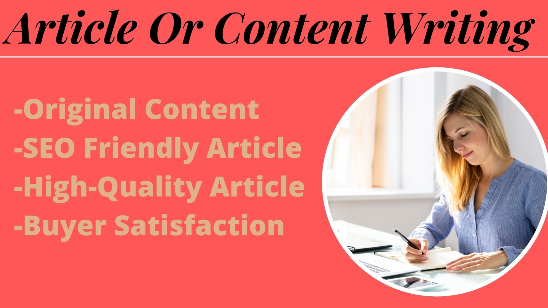I will do SEO Friendly Article or content writing