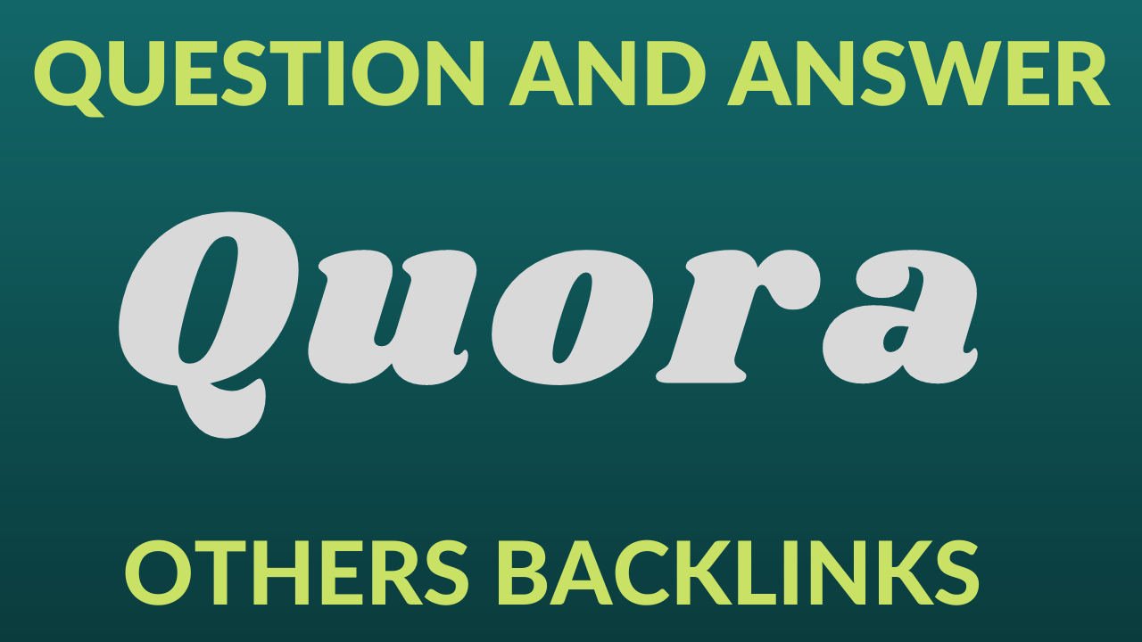 I will Provide 20 questions & answer on Quora for your Site