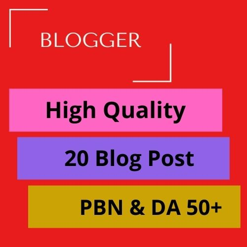 20 PBN- Blog post on Blogger with Quality Back links