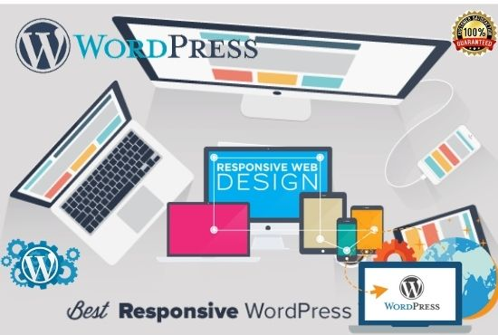 I will build modern wordpress website design clean and fully Responsive
