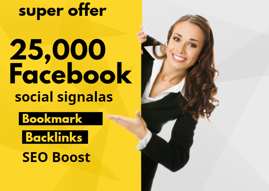 Give 25,000 Facebook Social signals For Website Google Ranking SEO Boost
