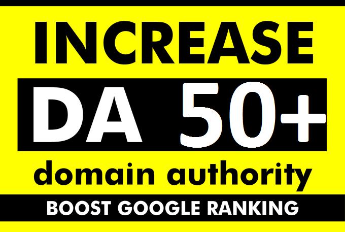 increase moz domain authority increase moz da 50+ plus