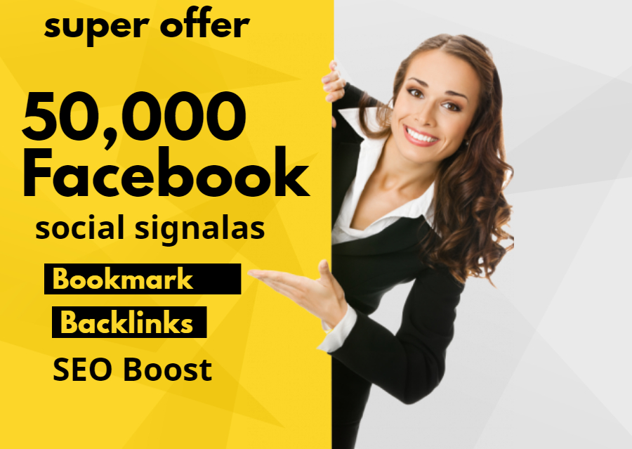 Give 50,000 Facebook Social signals For Website Google Ranking SEO Boost