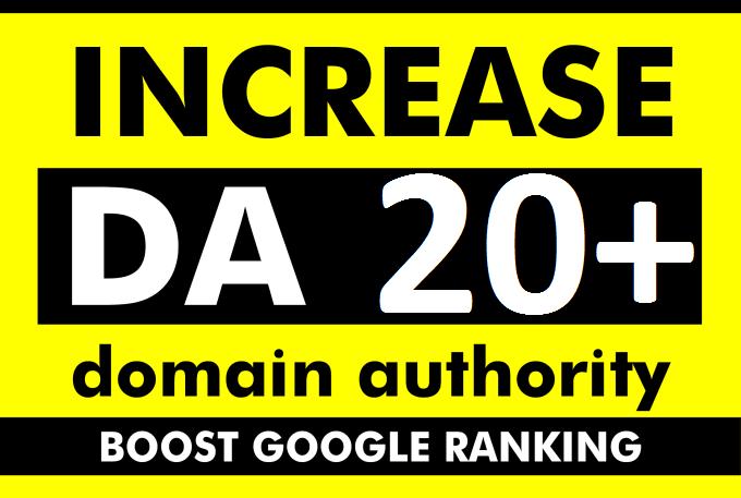 increase moz domain authority increase moz da 20+ plus backlinks
