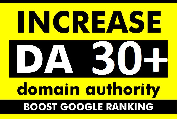 increase moz domain authority increase moz da 30+ plus