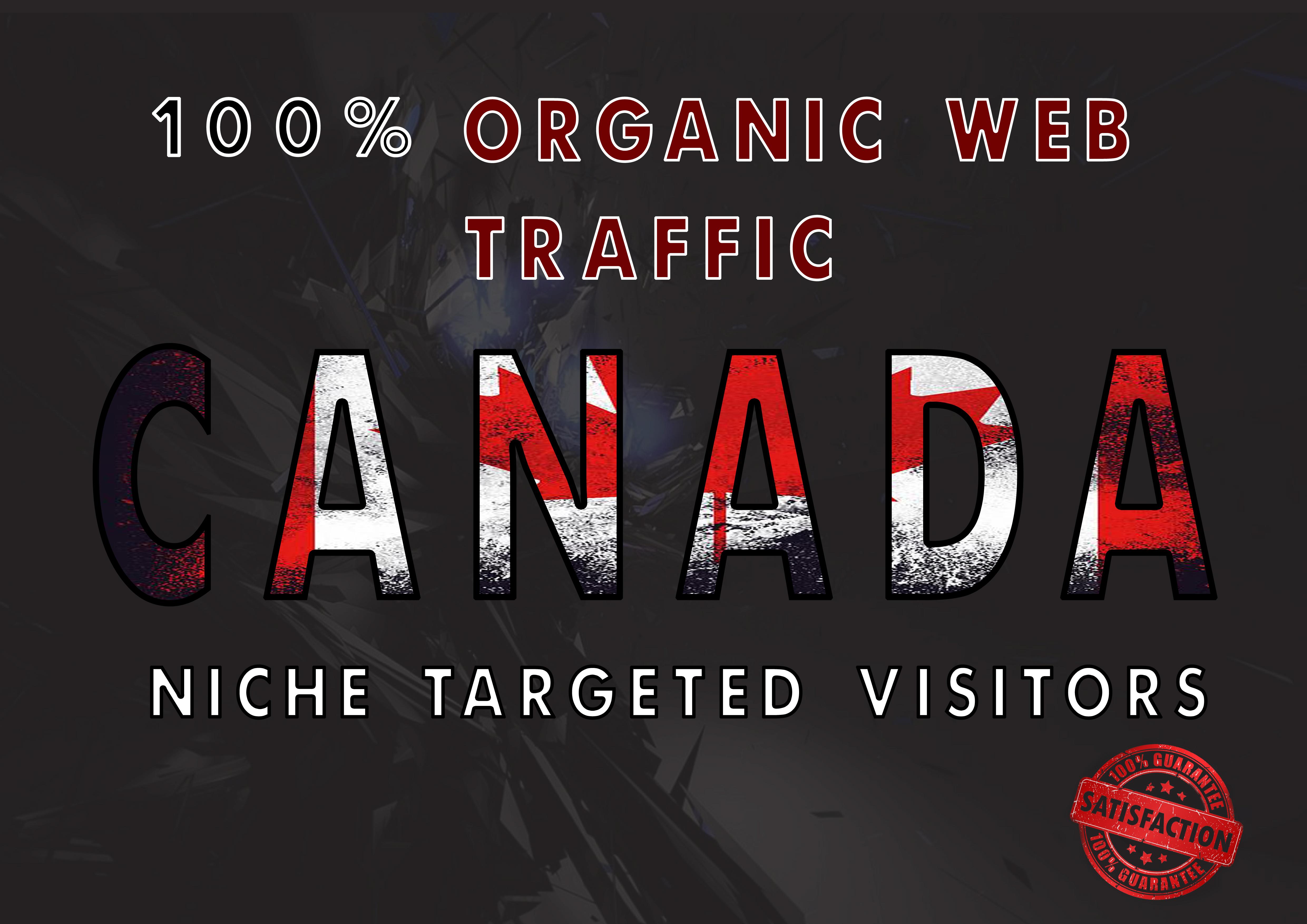 I will drive real organic CANADA web traffic