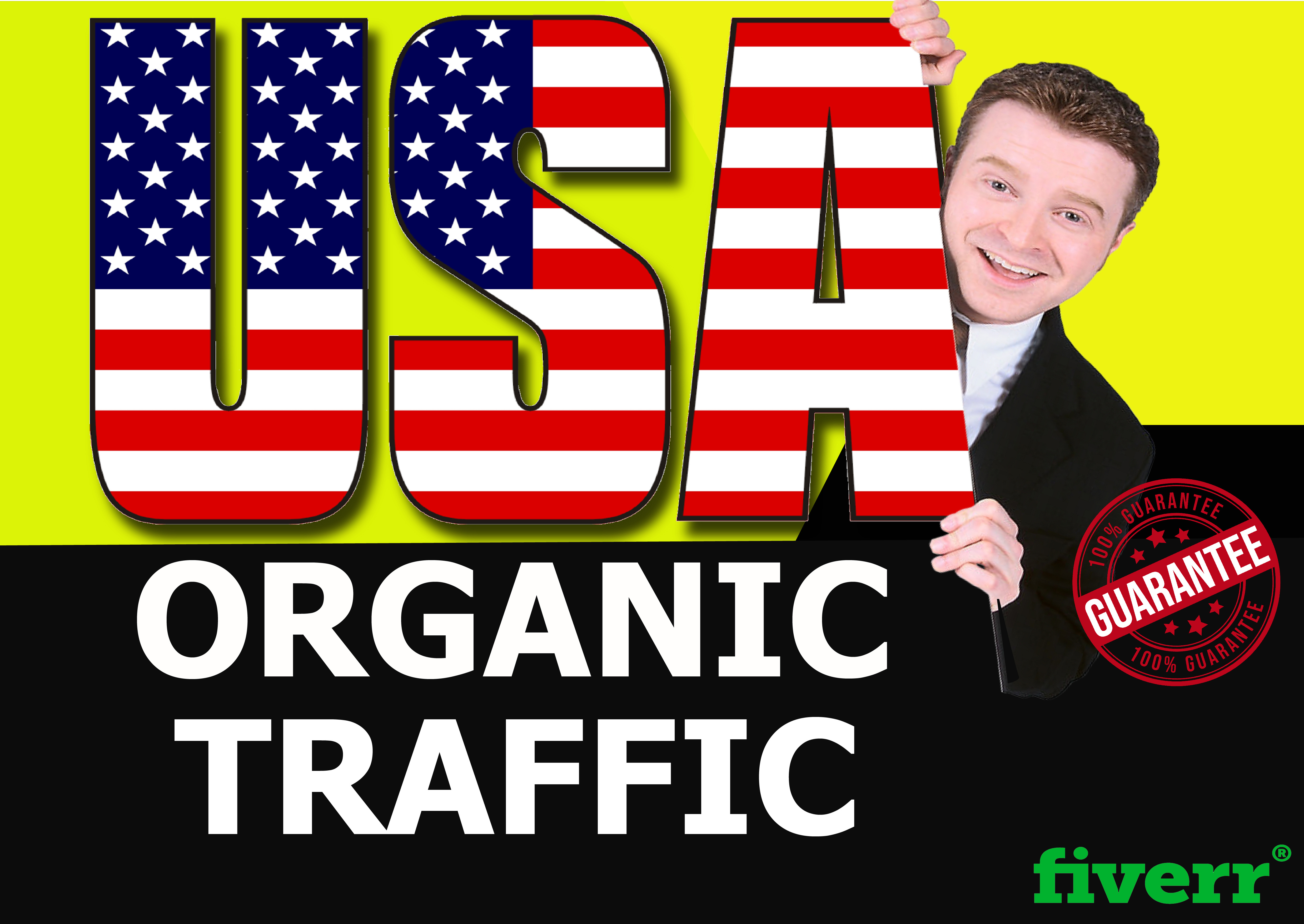 I will send low bounce real organic web traffic,  from USA