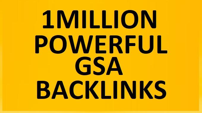 I will do 1million highly verified backlinks your website using ser