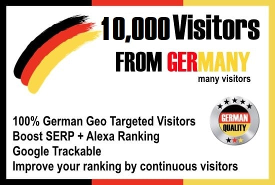 I will send website visitors from germany