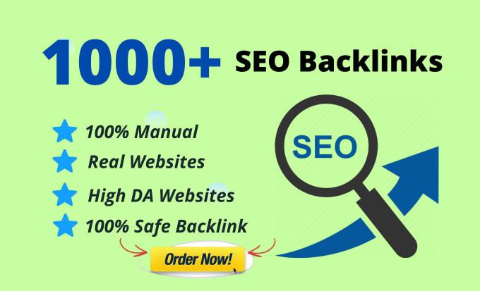 I will Build 1000 SEO dofollow backlinks for google ranking