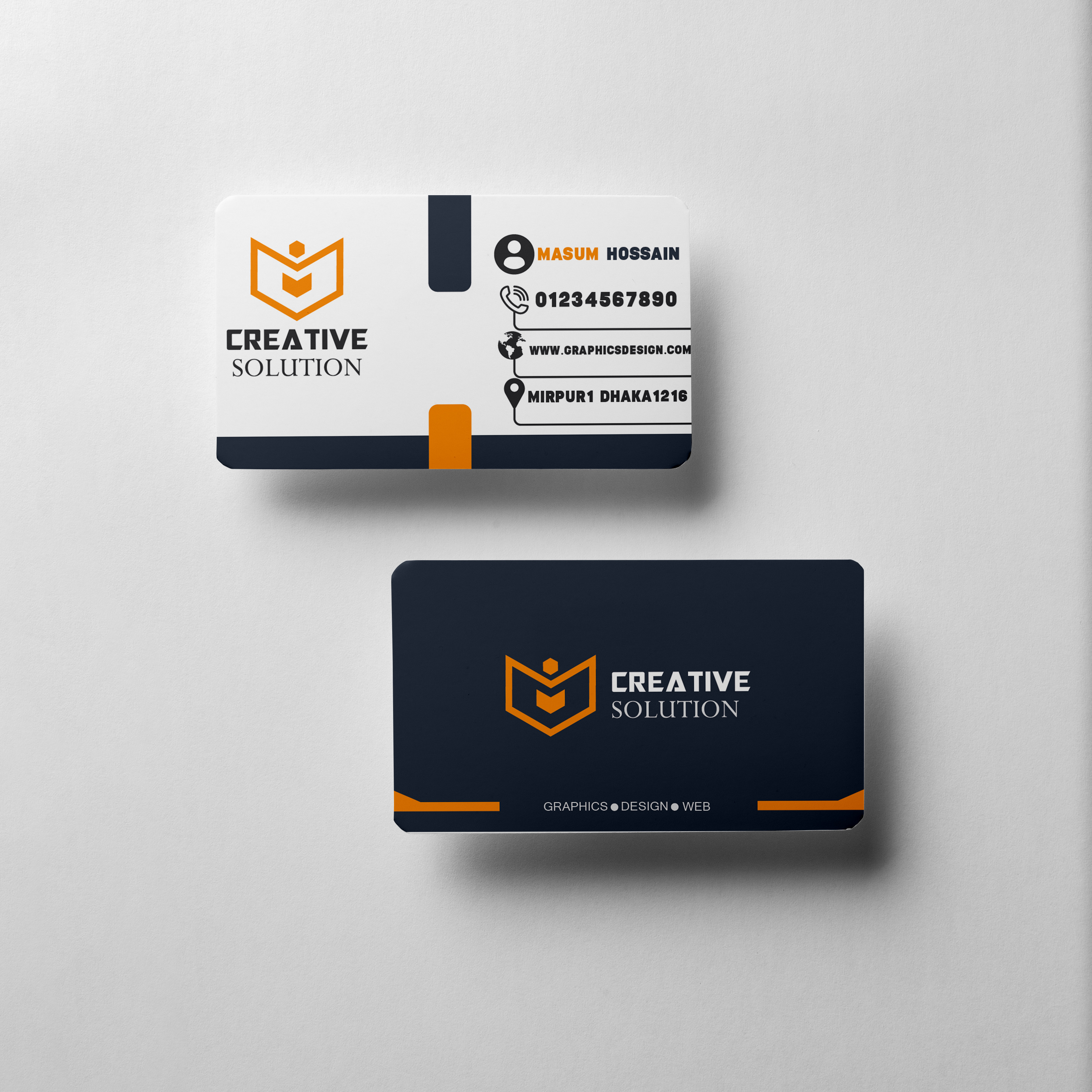 I will do Professional Business Card design like this