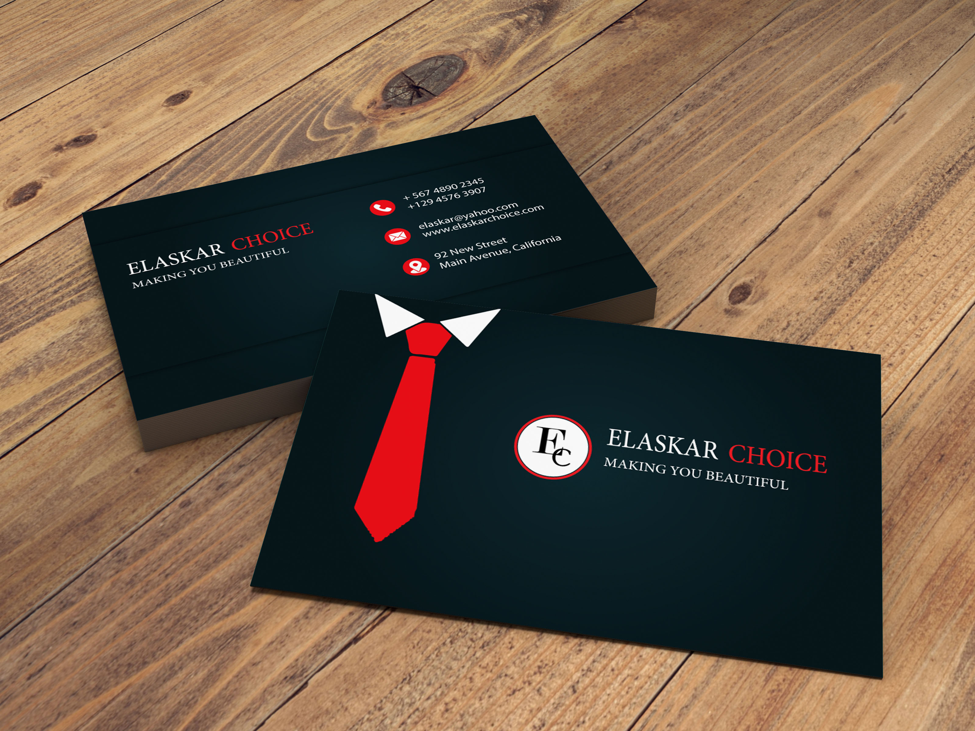 I will create unique customized professional minimalist business card