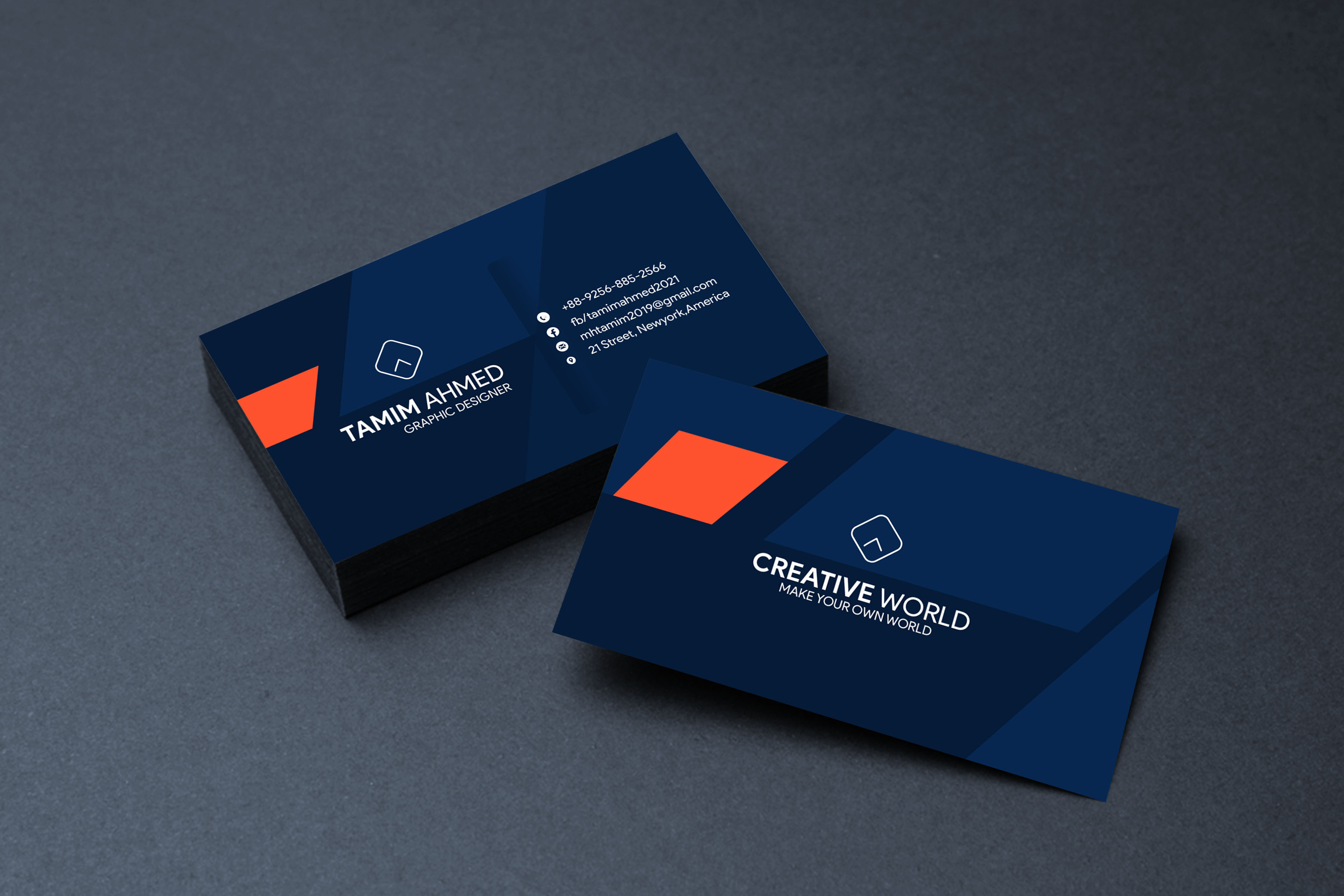 Simple minimalist business card