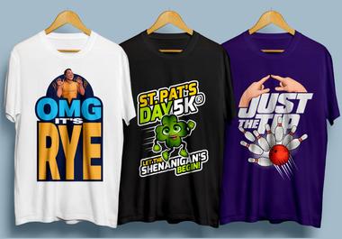 I will make custom and trendy t shirt design