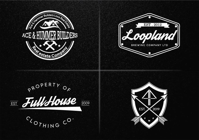 Design you Unique Modern Vintage Logo