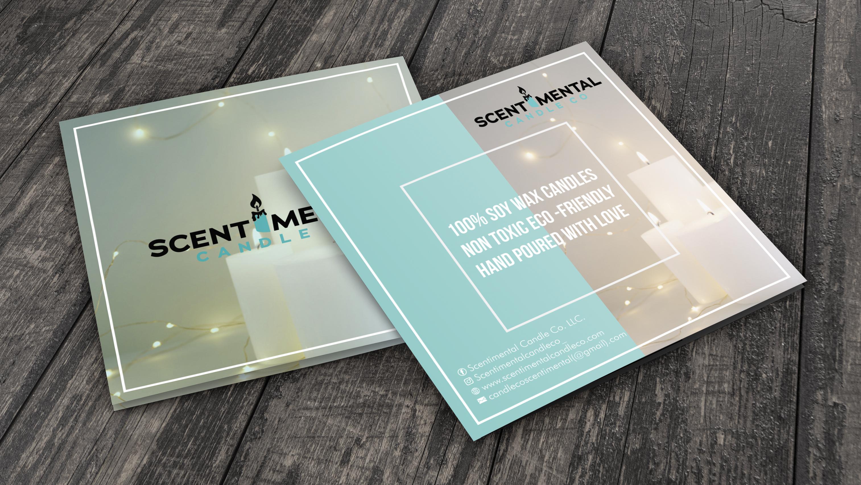 Design you a professional square brochure