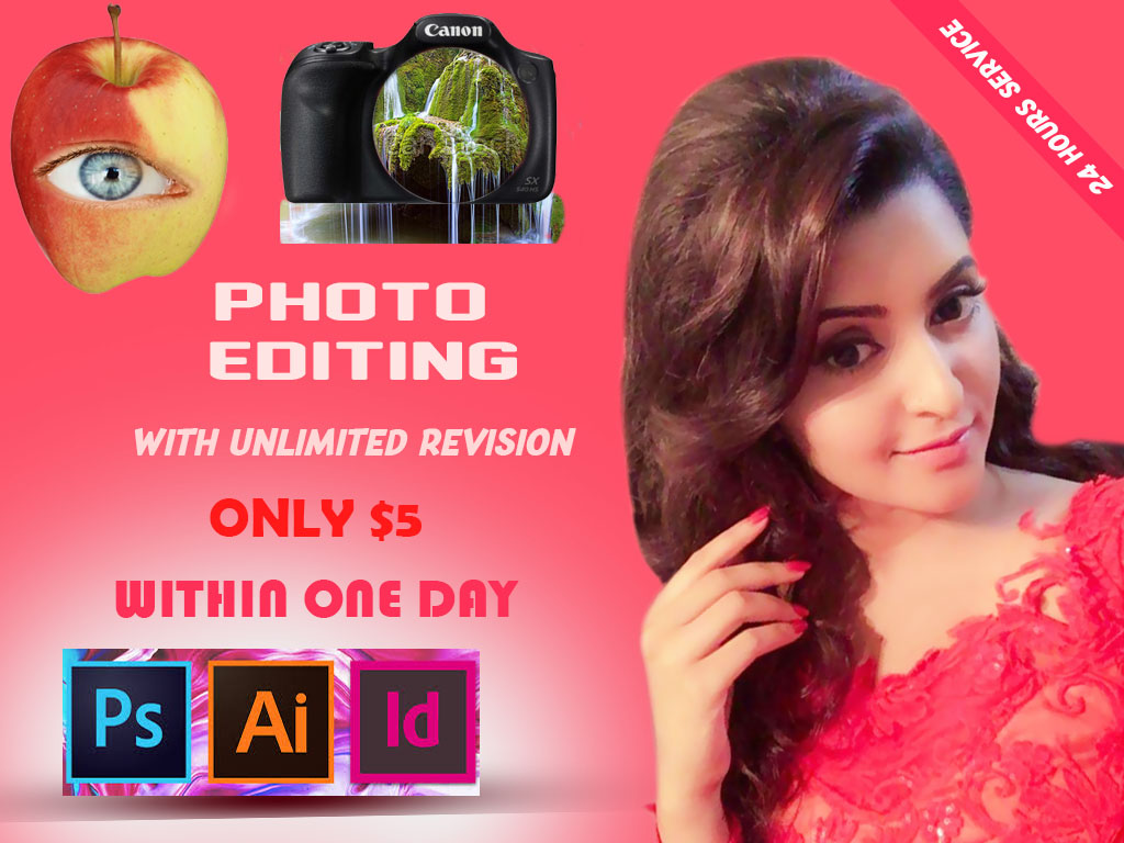 I will do image retouch and Background remove