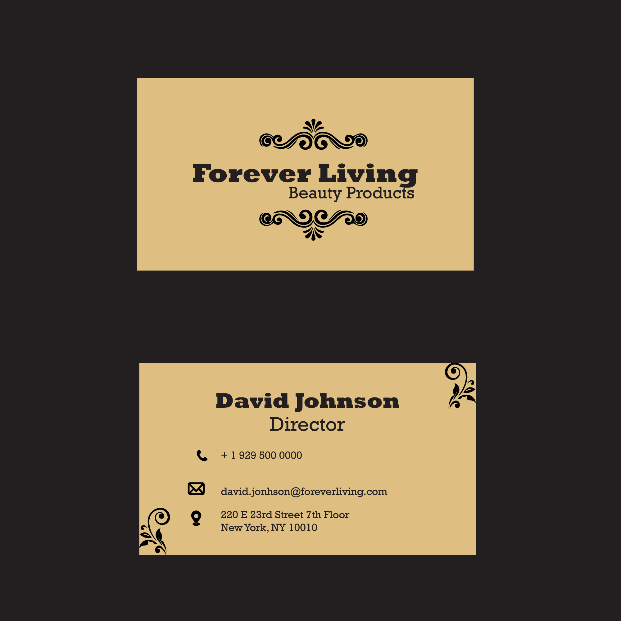 Luxury professional business card