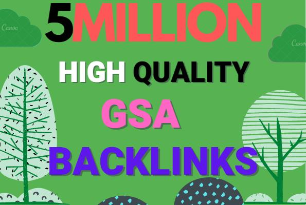 Build 5 Million multi tier high quality GSA SER SEO Verified Backlinks Ranking on your Website