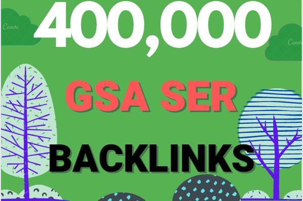 Build 400K multi tier high quality GSA SER SEO Verified Backlinks Ranking on your Website