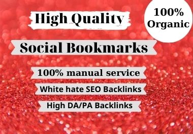 100 High quality social bookmarks seo backlinks for google ranking
