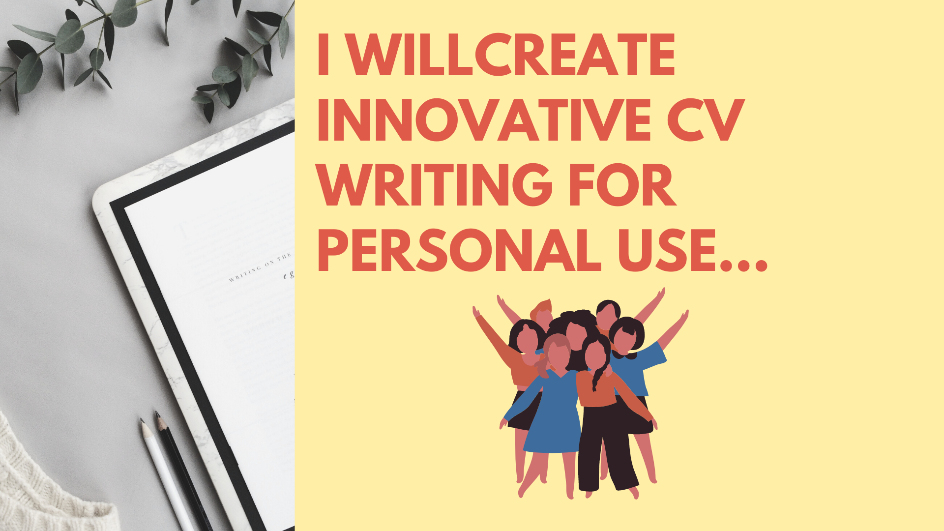 I Will create Innovative personal CV writing,  resume & cover letter.