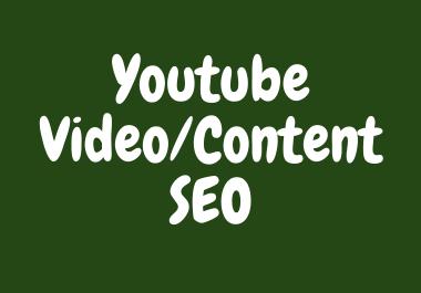 Youtube video SEO by SEO expert