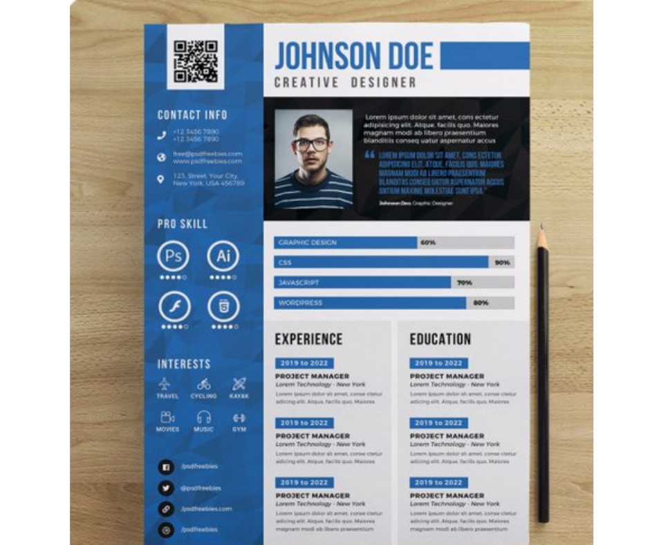 Creating a professional CV/RESUME design, postcards, Invitations, Greeting cards