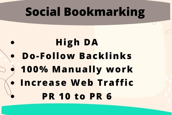 Do 50 social bookmarking on high da backlinks.