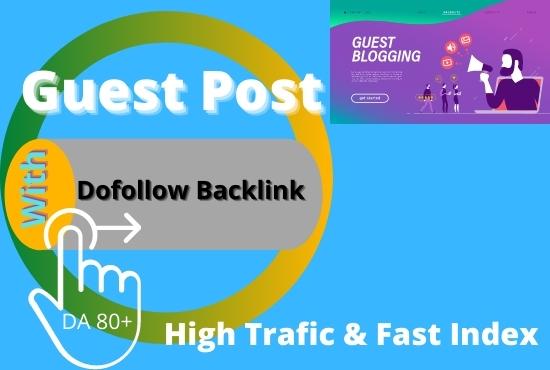 Publish high da guest post and dofollow backlink da 70