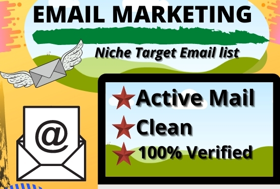 I will provide verified niche-targeted bulk email list for email marketing