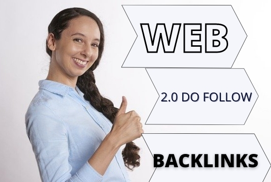 Do 56 high DA PA web2.0 permanent Backlinks for your website