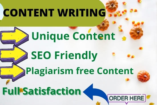 I will Write 1500 words Impressive SEO optimized Content for You