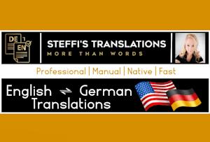 I will translate english to german or german to english