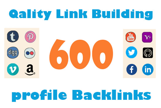 I will do 600 high quality profile backlinks for manual SEO link building