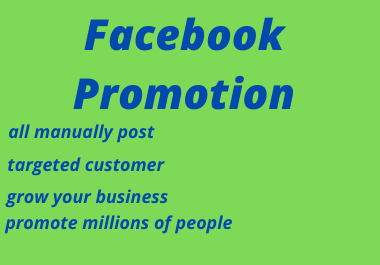 I Will Do Promote Your Facebook Business Million of People