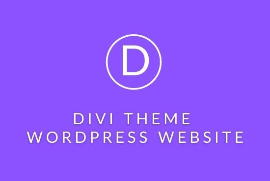 I will do a wordpress website with divi theme