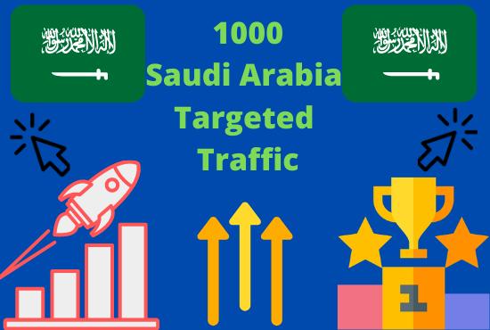 1000+ Real Human Saudi Arabia - Targeted Traffic To Your Web or Blog